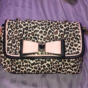 Betsey Johnson Leopard print purse